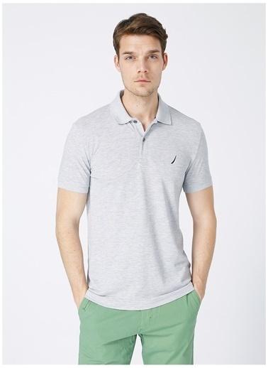 Nautica Nautica Erkek Gri Polo Yaka T-Shirt Gri